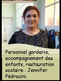Personnel communal : Jennifer Pedracini